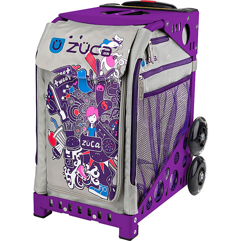 ZUCA Sport Unit ZCA NationBag Purple Frame Purple Frame and Purple Insert ZUCA Softside Checked