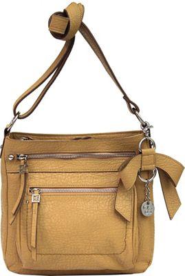 Jessica Simpson Alicia Crossbody Camel - Jessica Simpson Manmade Handbags