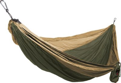 Grand Trunk Single Parachute Hammock Olive/Khaki - Grand Trunk Outdoor Accessories