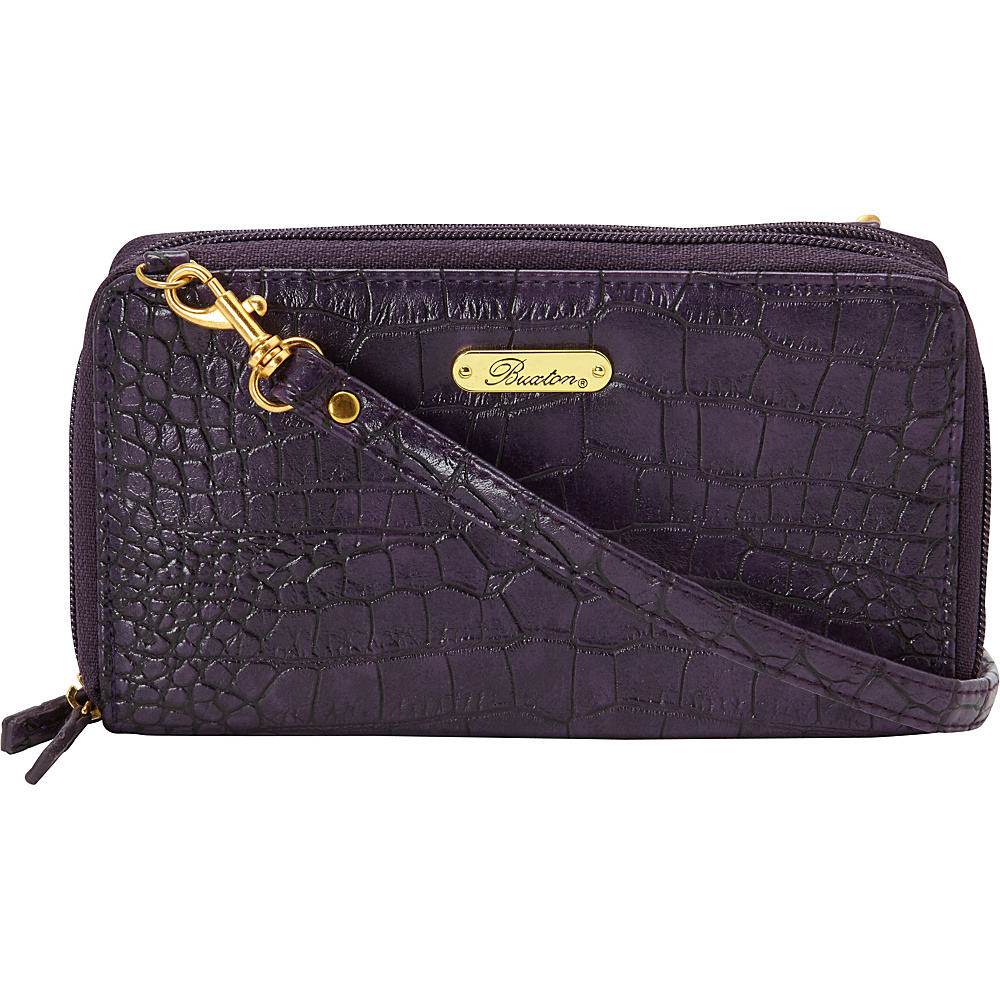Buxton Nile Exotic Ultimate Organizer Mulberry Buxton Women s Wallets