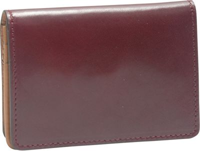 TUSK LTD Tuscany Gusseted Business Card Case Eggplant - TUSK LTD Ladies Small Wallets