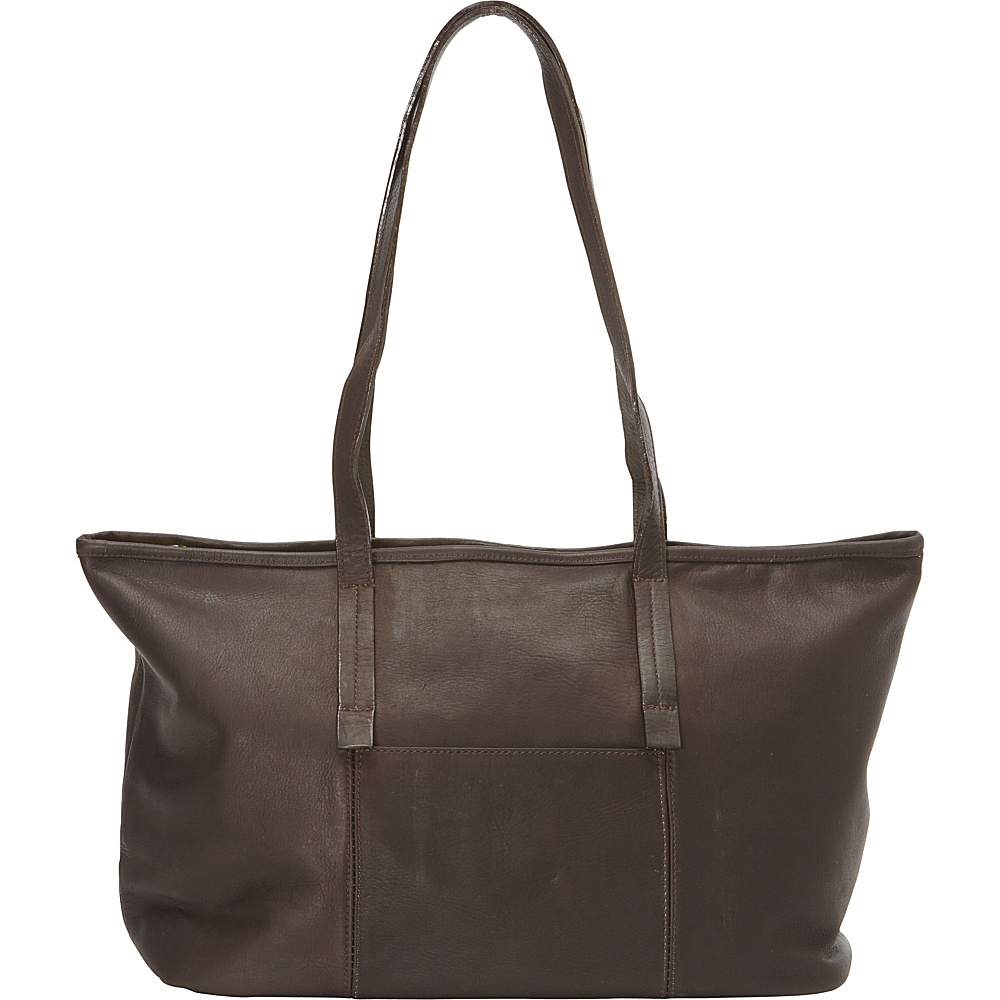 Clava Horizontal Lucy Tote Vachetta Cafe Clava Leather Handbags