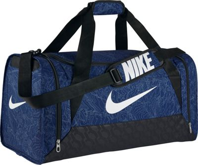 Nike Brasilia 6 Duffel Graphic Medium Deep Royal Blue/Black/White - Nike All Purpose Duffels
