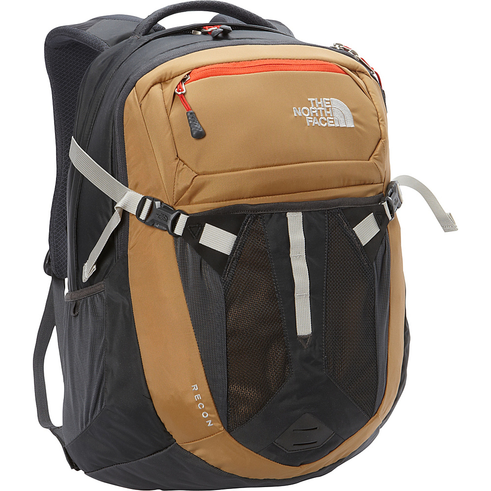 The North Face Recon Laptop Backpack Dijon Brown Poinciana Orange The North Face Business Laptop Backpacks
