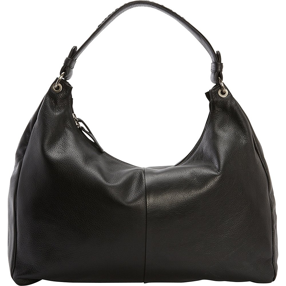 Derek Alexander Large E/W Top Zip Slouch Black - Derek Alexander Leather Handbags - Handbags, Leather Handbags