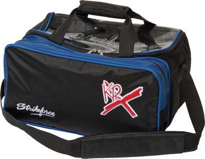 KR Strikeforce Bowling Royal Flush Double Bowling Ball Tote Royal/Black - KR Strikeforce Bowling Bowling Bags