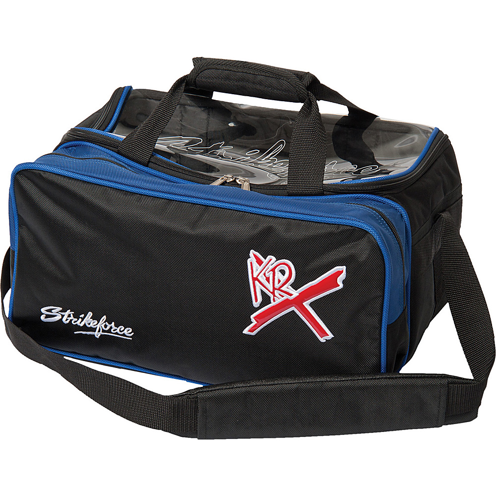KR Strikeforce Bowling Royal Flush Double Bowling Ball Tote Royal Black KR Strikeforce Bowling Bowling Bags