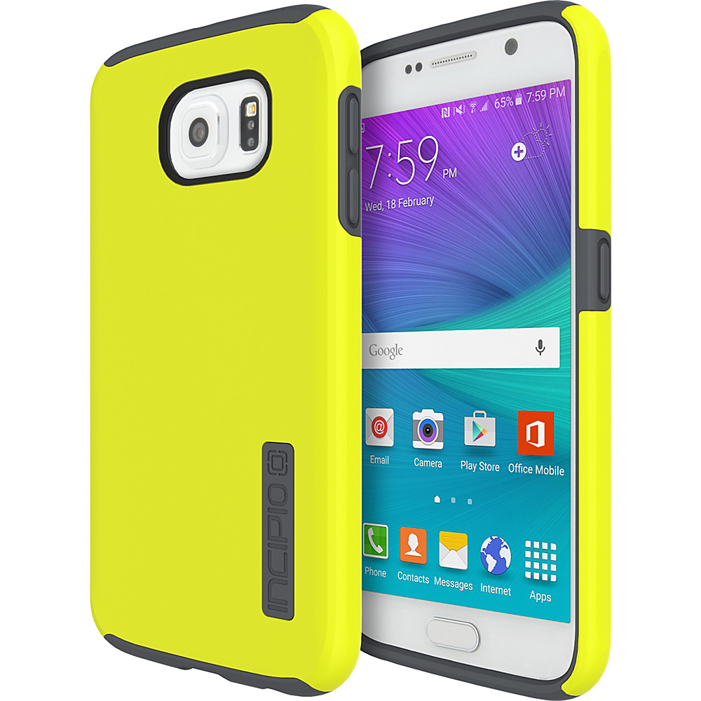 Incipio DualPro for Samsung Galaxy S6 Lime/Charcoal - Incipio Electronic Cases - Technology, Electronic Cases