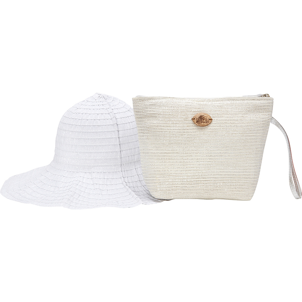 Cappelli Pack A Hat Wristlet with Hat Silver - Cappelli Straw Handbags