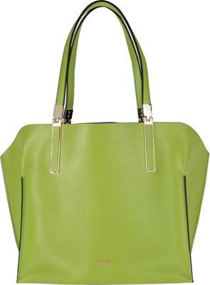 Lodis Blair Unlined Anita East/West Tote Kiwi/Cobalt - Lodis Leather Handbags