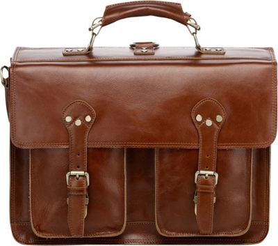 Vicenzo Leather Cambridge Full Grain Leather Briefcase Backpack Tan - Vicenzo Leather Non-Wheeled Business Cases