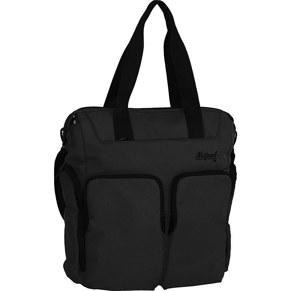 Netpack Soft Lightweight Travel Organizer Tote Black Netpack All Purpose Totes