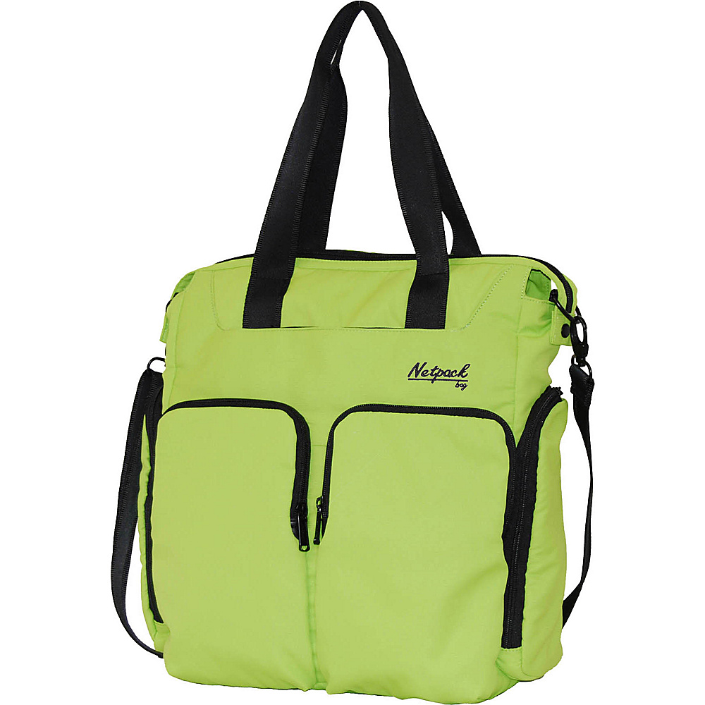 Netpack Soft Lightweight Travel Organizer Tote Green Netpack All Purpose Totes