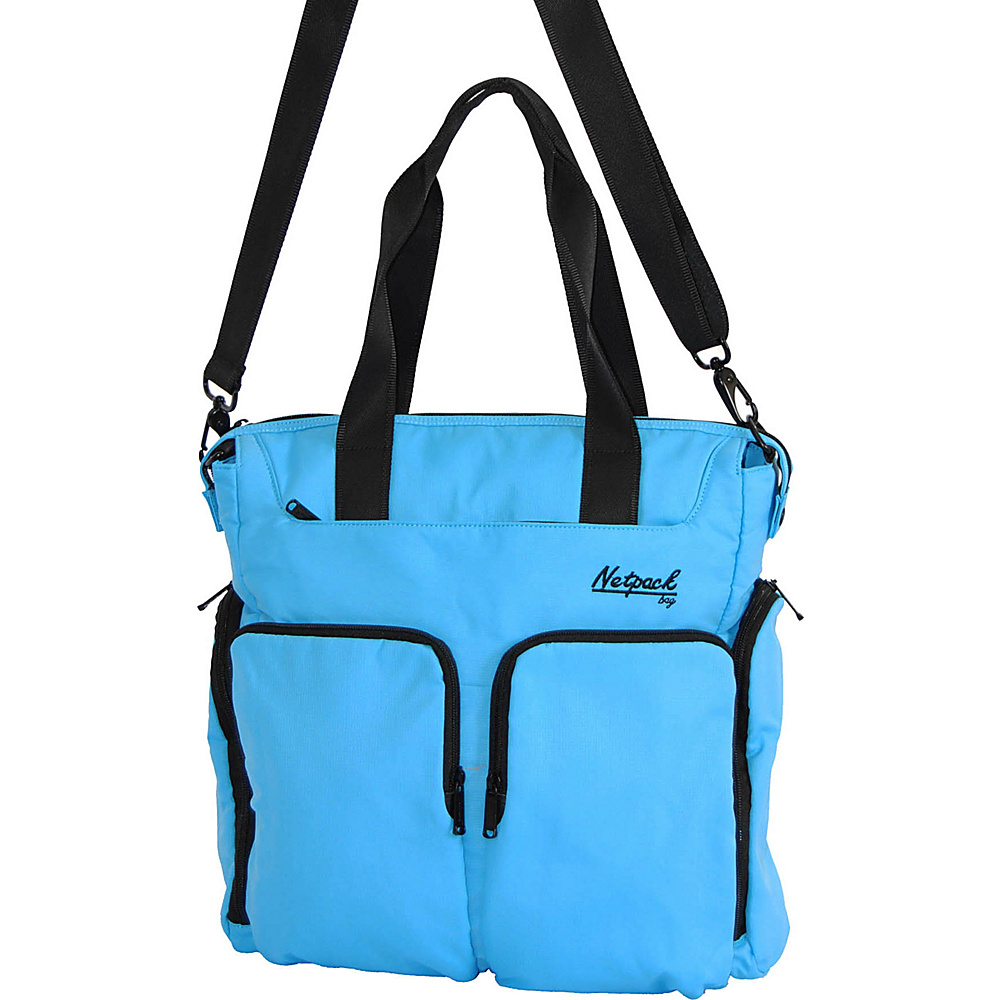 Netpack Soft Lightweight Travel Organizer Tote Blue Netpack All Purpose Totes