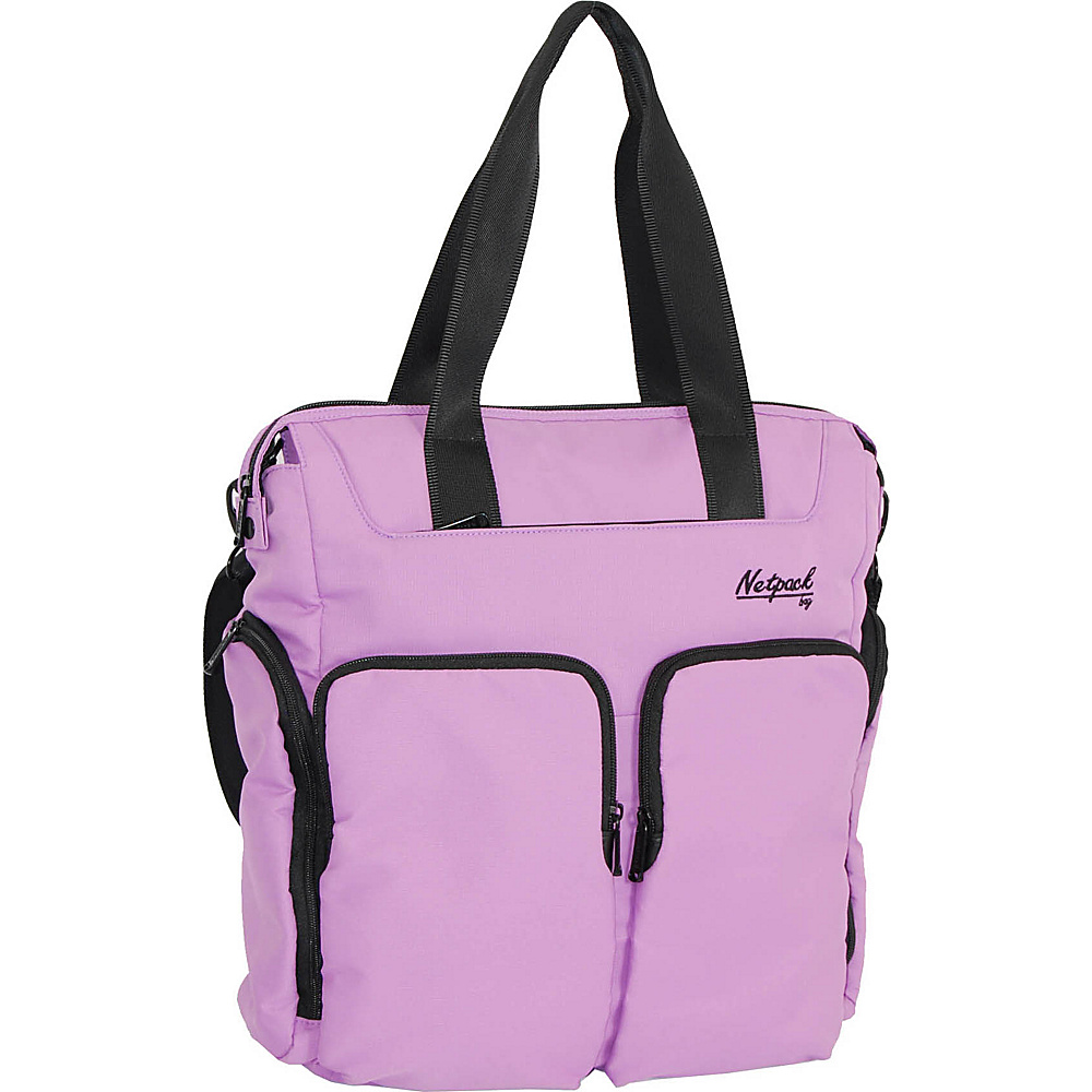 Netpack Soft Lightweight Travel Organizer Tote Purple Netpack All Purpose Totes