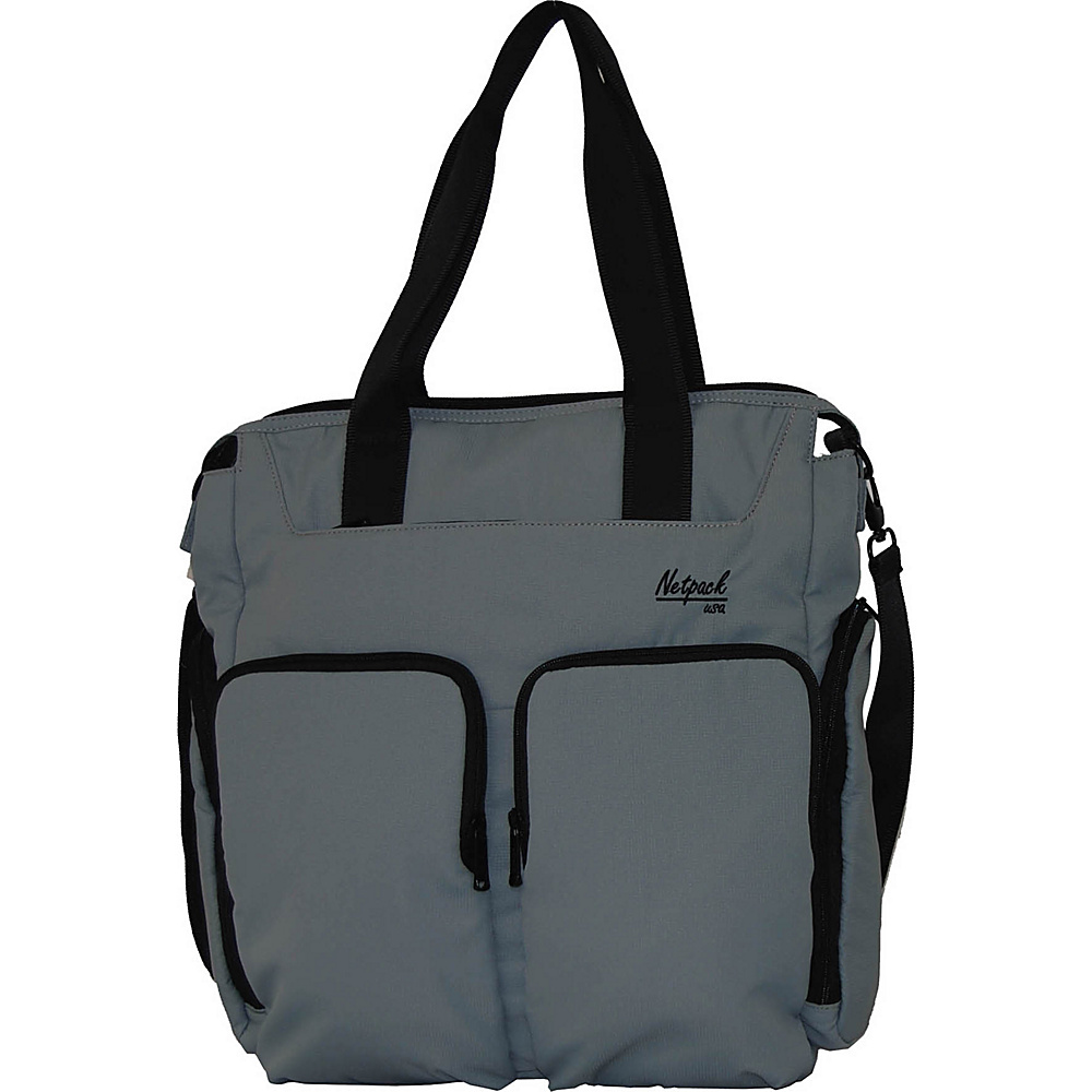 Netpack Soft Lightweight Travel Organizer Tote Grey Netpack All Purpose Totes