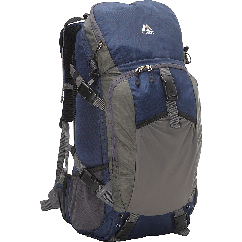 Everest Expedition Hiking Pack Navy Gray Everest Day Hiking Backpacks