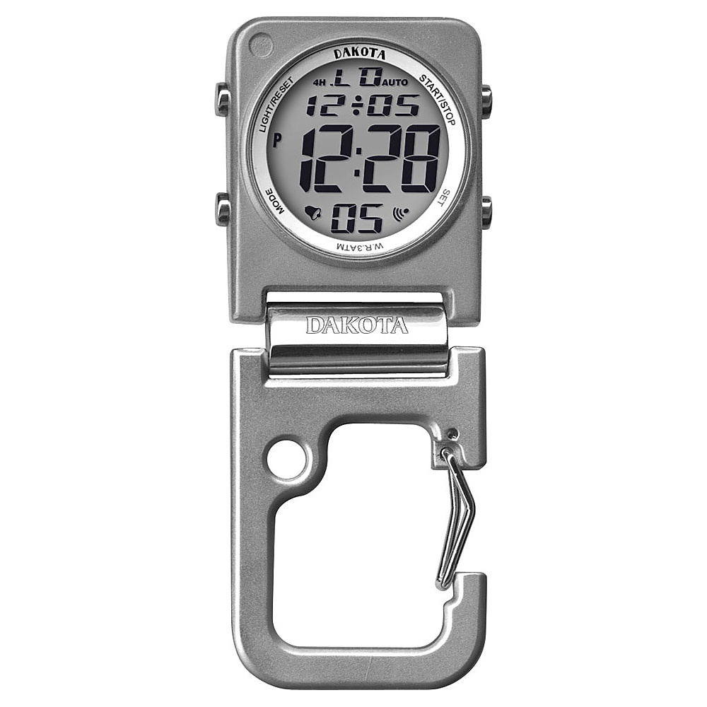 Dakota Watch Company Digiclip Square Watch Silver - Dakota Watch Company Watches