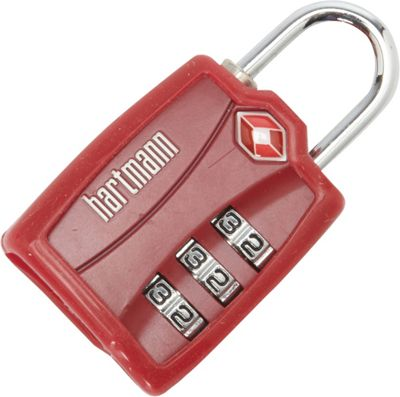 Hartmann Luggage TSA Combination Lock with Cover Red - Hartmann Luggage Luggage Accessories