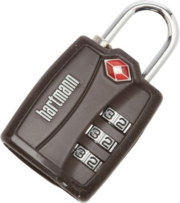 Hartmann Luggage Hartmann Luggage TSA Combination Lock with Cover Brown - Hartmann Luggage Luggage Accessories