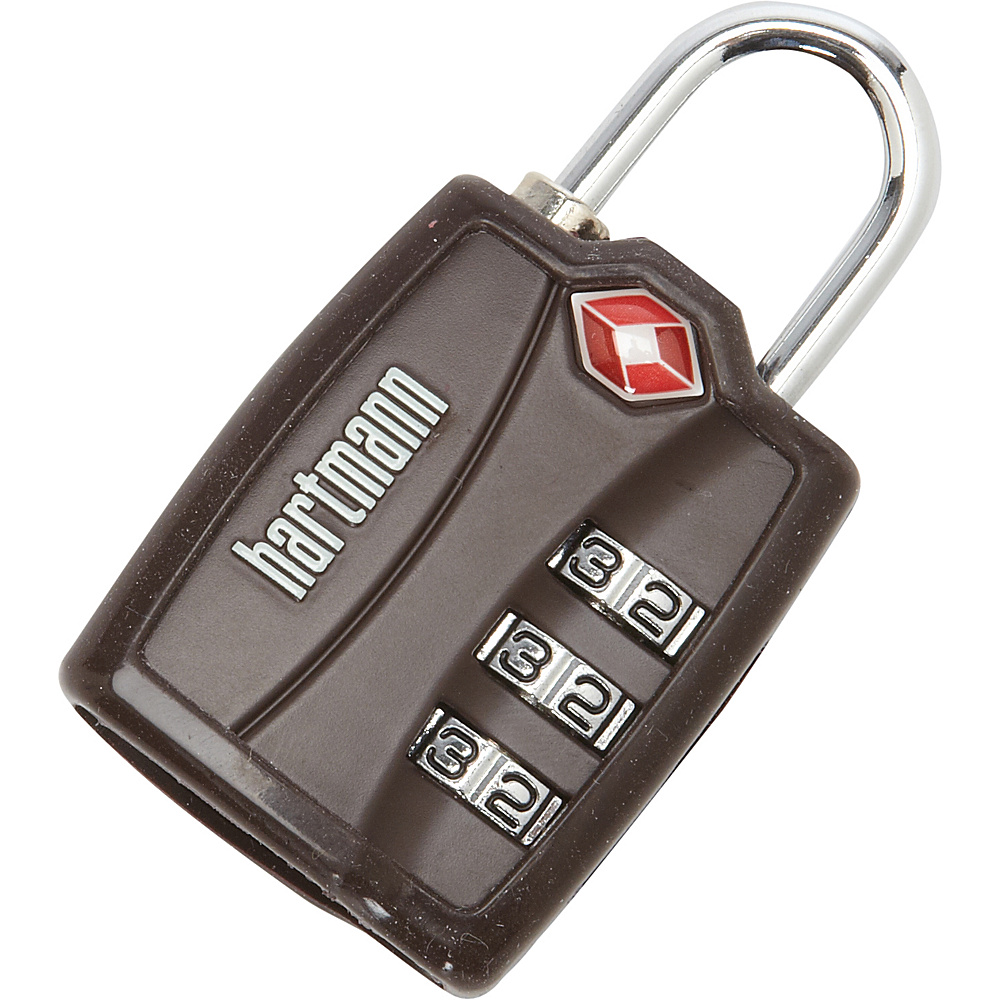 Hartmann Luggage TSA Combination Lock with Cover Brown Hartmann Luggage Luggage Accessories