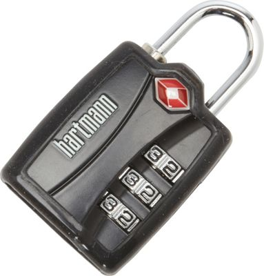 Hartmann Luggage TSA Combination Lock with Cover Black - Hartmann Luggage Luggage Accessories