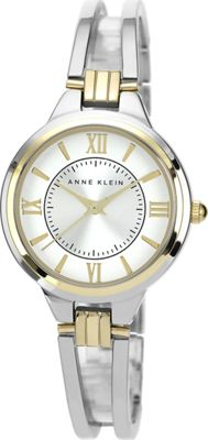 Anne Klein Watches Anne Klein Watches Two-Tone Open Bangle Watch Silver - Anne Klein Watches Watches