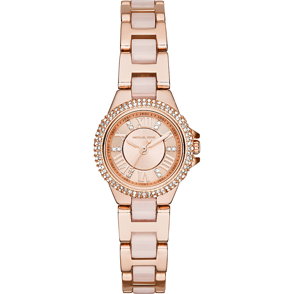 Michael Kors Watches Petite Camille Three Hand Acetate Watch Rose Gold Michael Kors Watches Watches