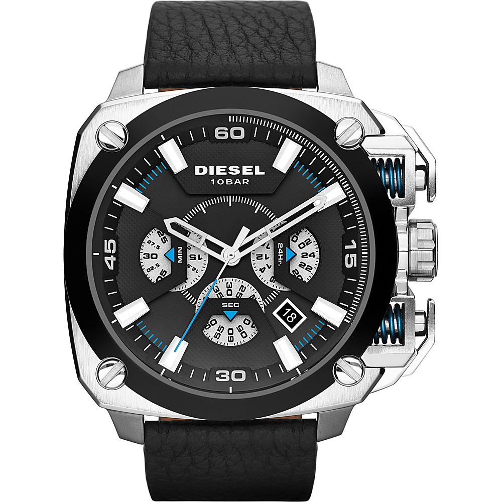 Diesel Watches BAMF Leather Watch Black/Silver - Diesel Watches Watches