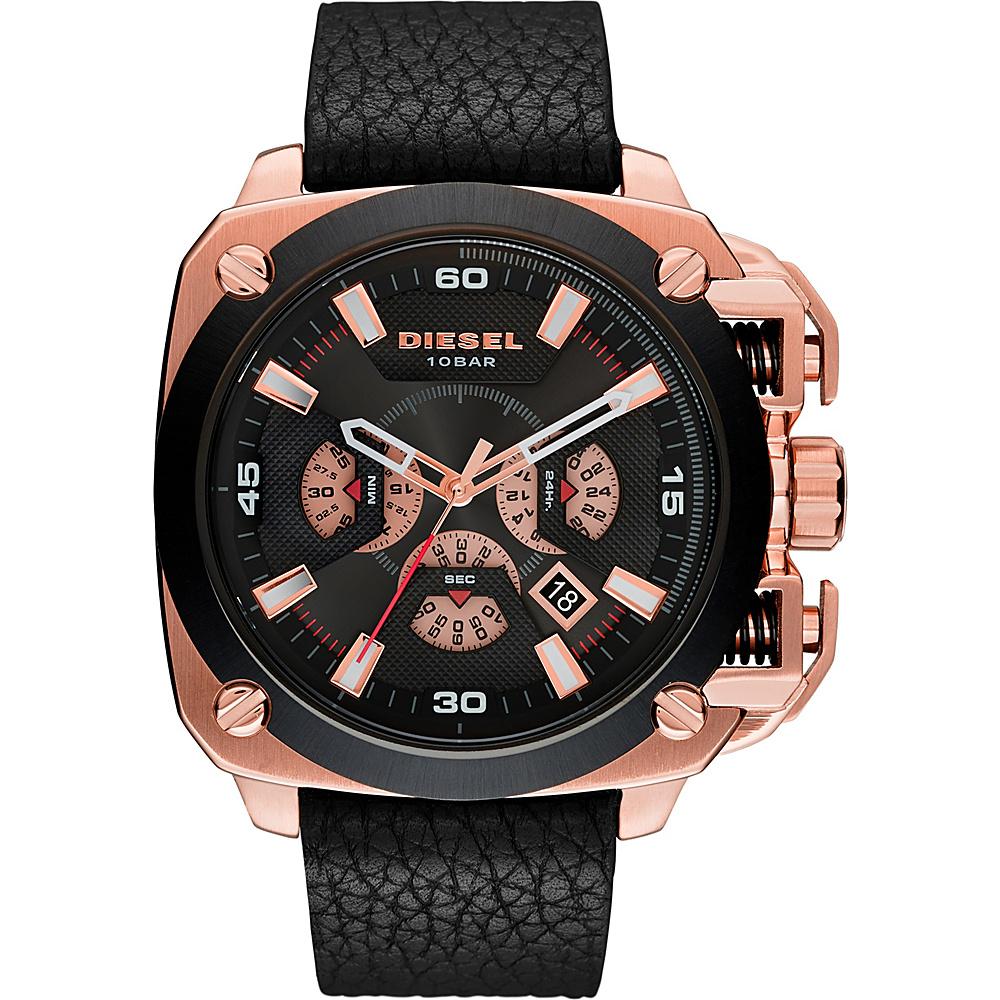Diesel Watches BAMF Leather Watch Black/Gold - Diesel Watches Watches