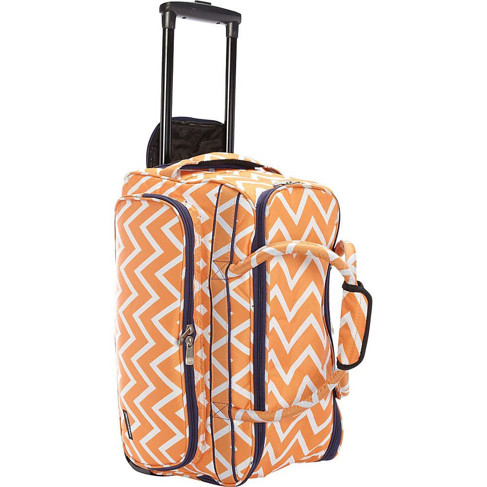 Jenni Chan Madison Soft Carry All Duffel Orange Jenni Chan Rolling Duffels