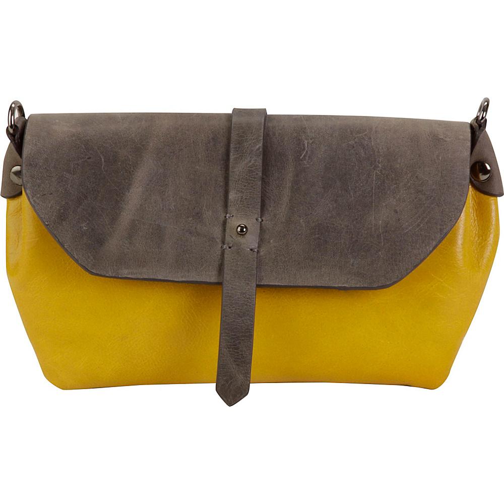 Hadaki Primavera Cross body Tango Yellow/Distressed Gray - Hadaki Leather Handbags - Handbags, Leather Handbags
