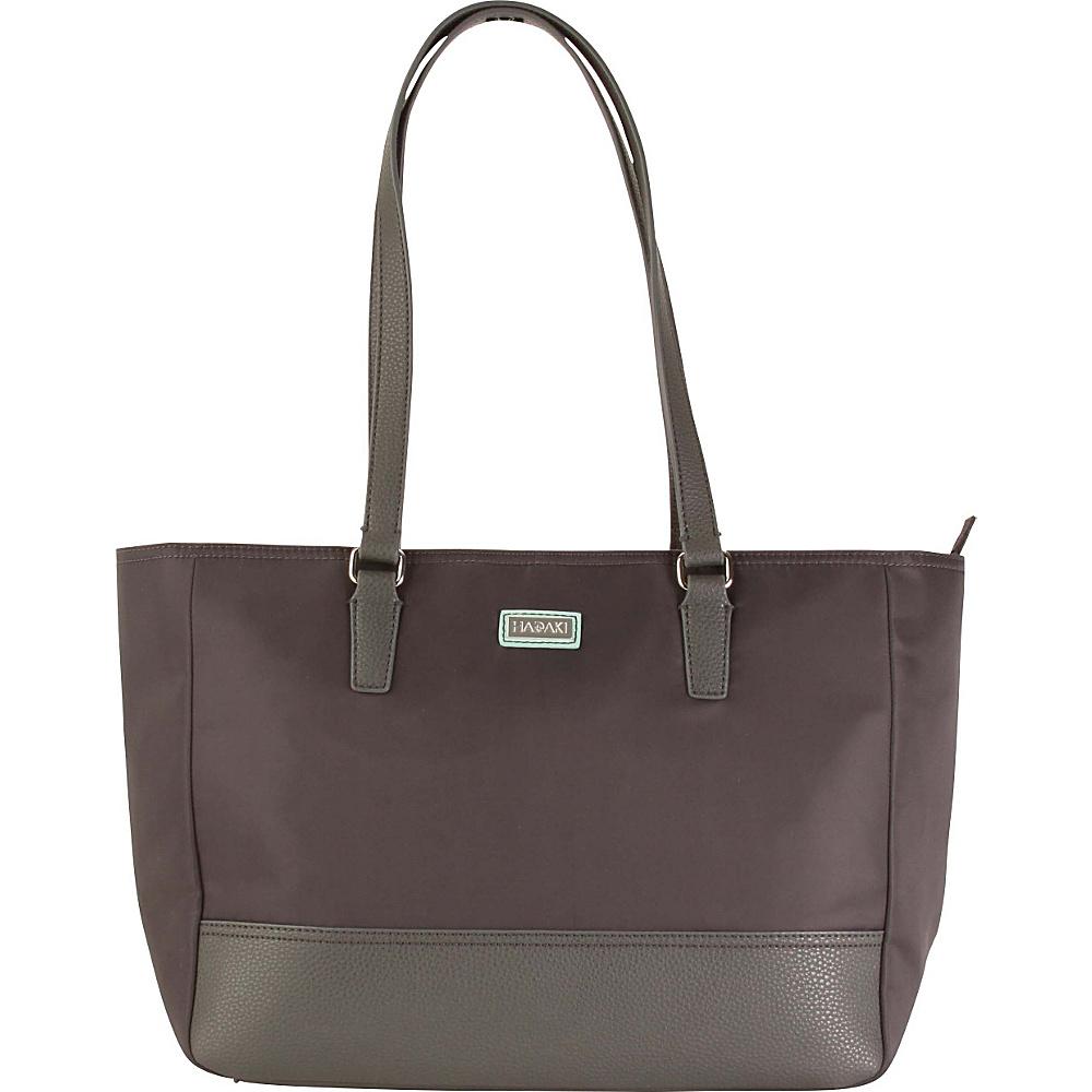 Hadaki Cassandra Tote Asphalt - Hadaki Fabric Handbags - Handbags, Fabric Handbags