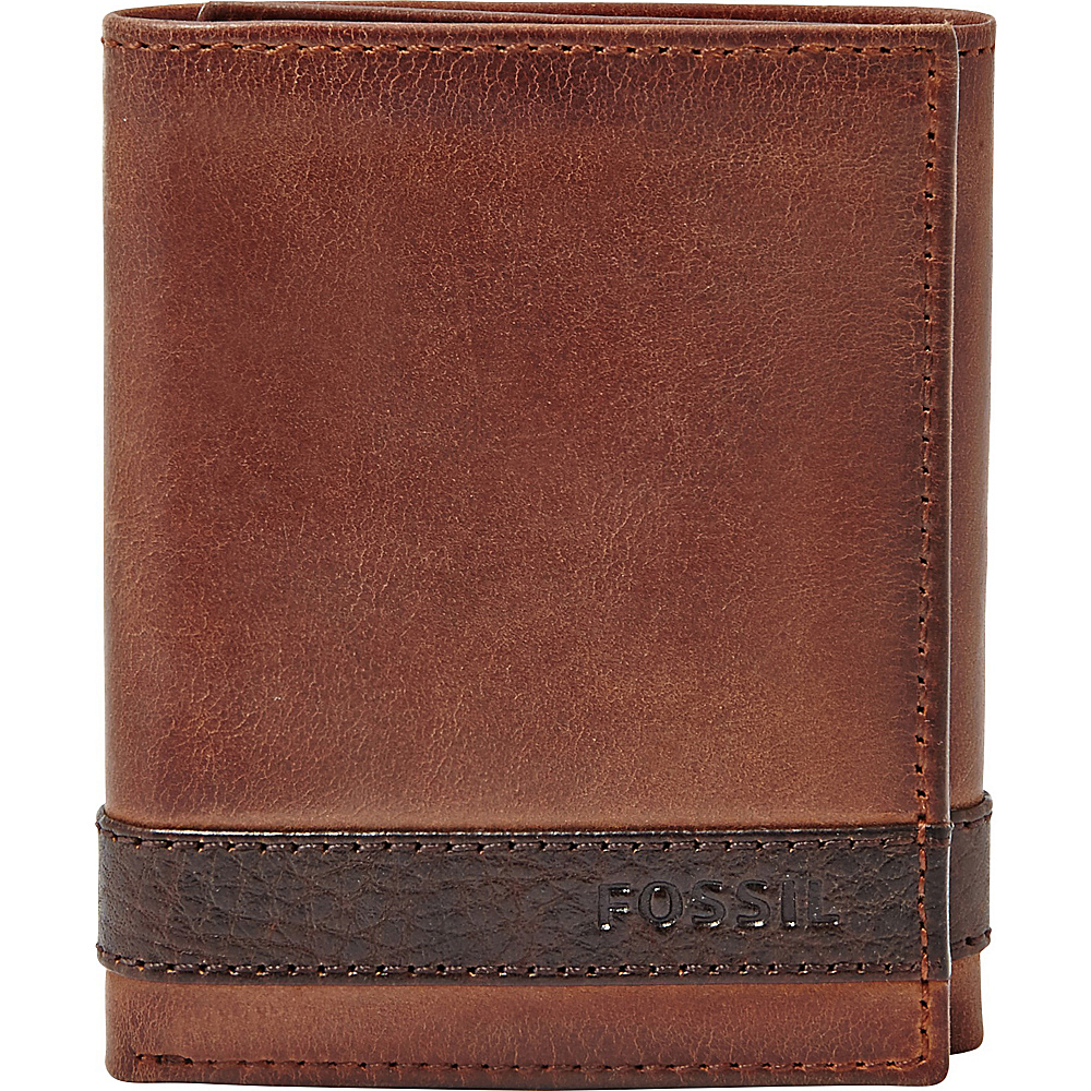 Fossil Quinn Trifold Brown - Fossil Mens Wallets - Work Bags & Briefcases, Men's Wallets
