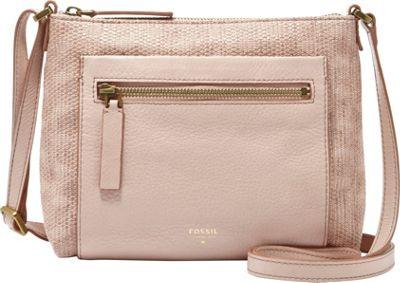 Fossil Vickery Crossbody Barely Pink - Fossil Manmade Handbags