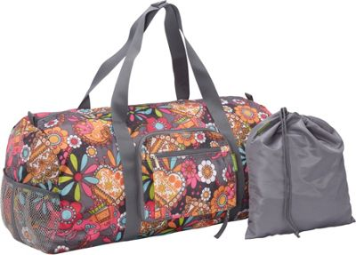 Sacs Collection by Annette Ferber Duffle 2: Two piece Set Groovy Gray Pattern - Sacs Collection by Annette Ferber Travel Duffels