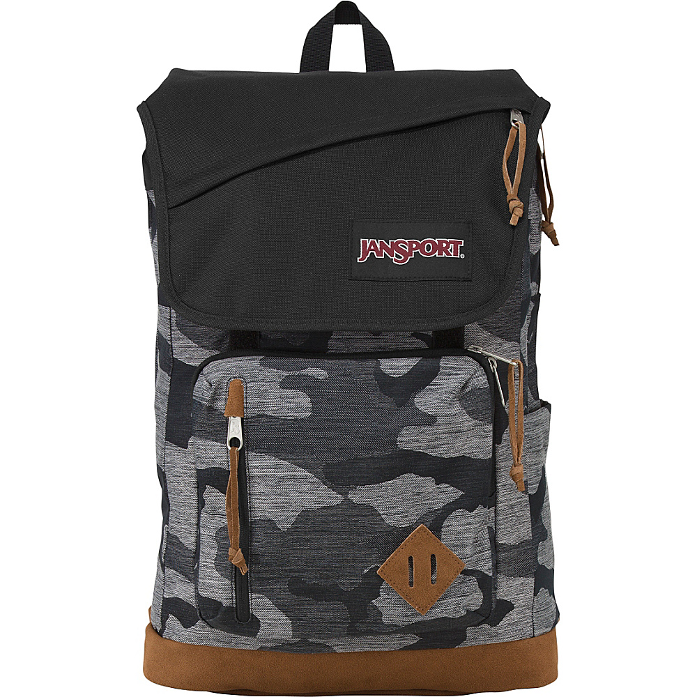 JanSport Hensley Backpack Grey Denim Camo Jaquard - JanSport Laptop Backpacks - Backpacks, Laptop Backpacks