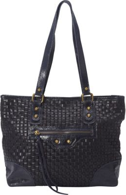Sharo Leather Bags Woven Italian Leather Tote Navy Blue - Sharo Leather Bags Leather Handbags