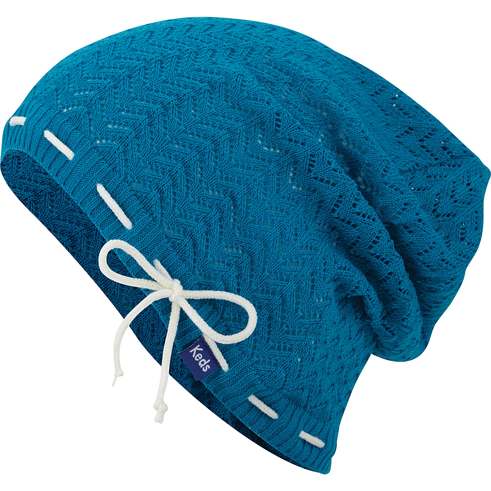 Keds Solid Slouch Beanie Vivid Blue Keds Hats Gloves Scarves