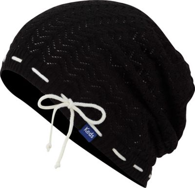 Keds Solid Slouch Beanie Black - Keds Hats/Gloves/Scarves