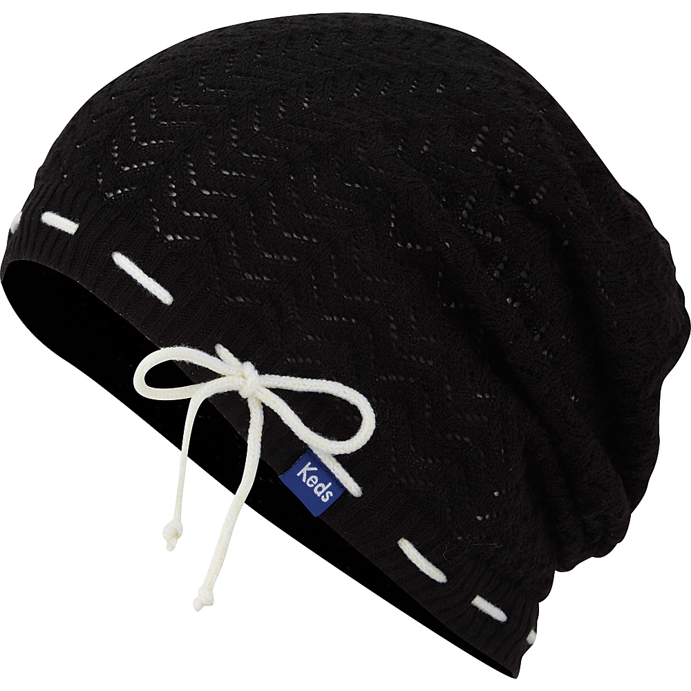 Keds Solid Slouch Beanie Black Keds Hats Gloves Scarves