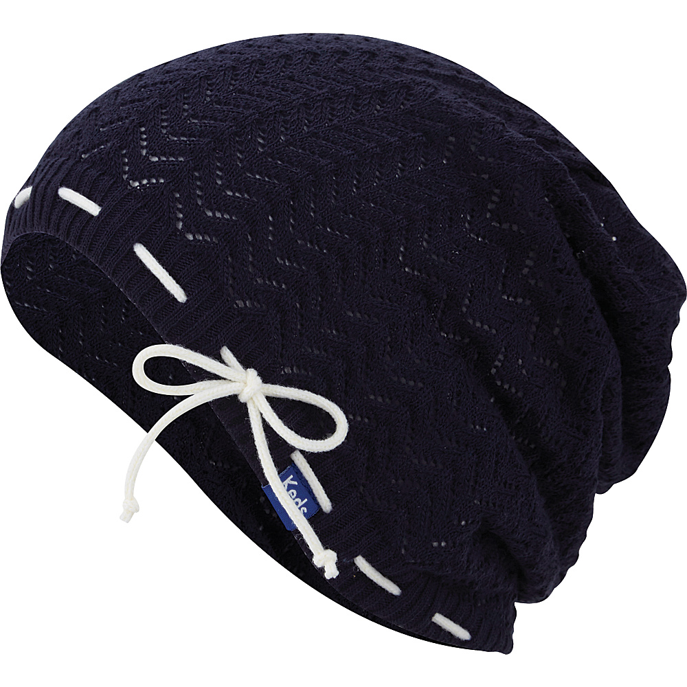Keds Solid Slouch Beanie Blue Depths Keds Hats Gloves Scarves