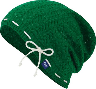Keds Solid Slouch Beanie Bright Green - Keds Hats/Gloves/Scarves