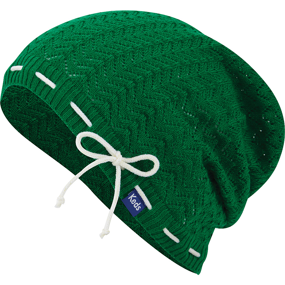Keds Solid Slouch Beanie Bright Green Keds Hats Gloves Scarves