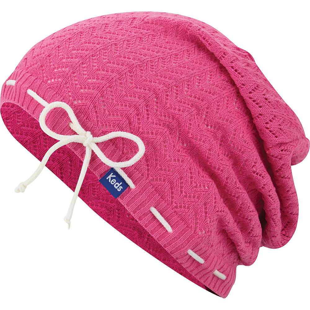 Keds Solid Slouch Beanie Super Pink Keds Hats Gloves Scarves