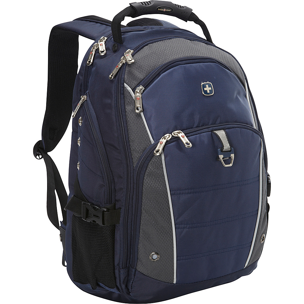 SwissGear Travel Gear Computer Backpack 3295 Grey/ Blue - SwissGear Travel Gear Laptop Backpacks