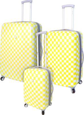 Travelers Club Luggage Paris 3PC Exp. Hardside Luggage Set Yellow - Travelers Club Luggage Luggage Sets