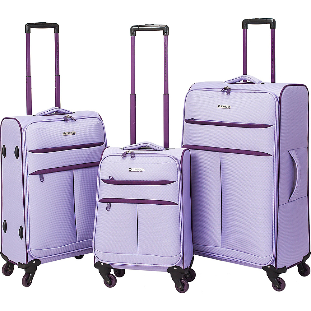 Travelers Club Luggage Transcend 3PC Softside Luggage Set Lavender - Travelers Club Luggage Luggage Sets
