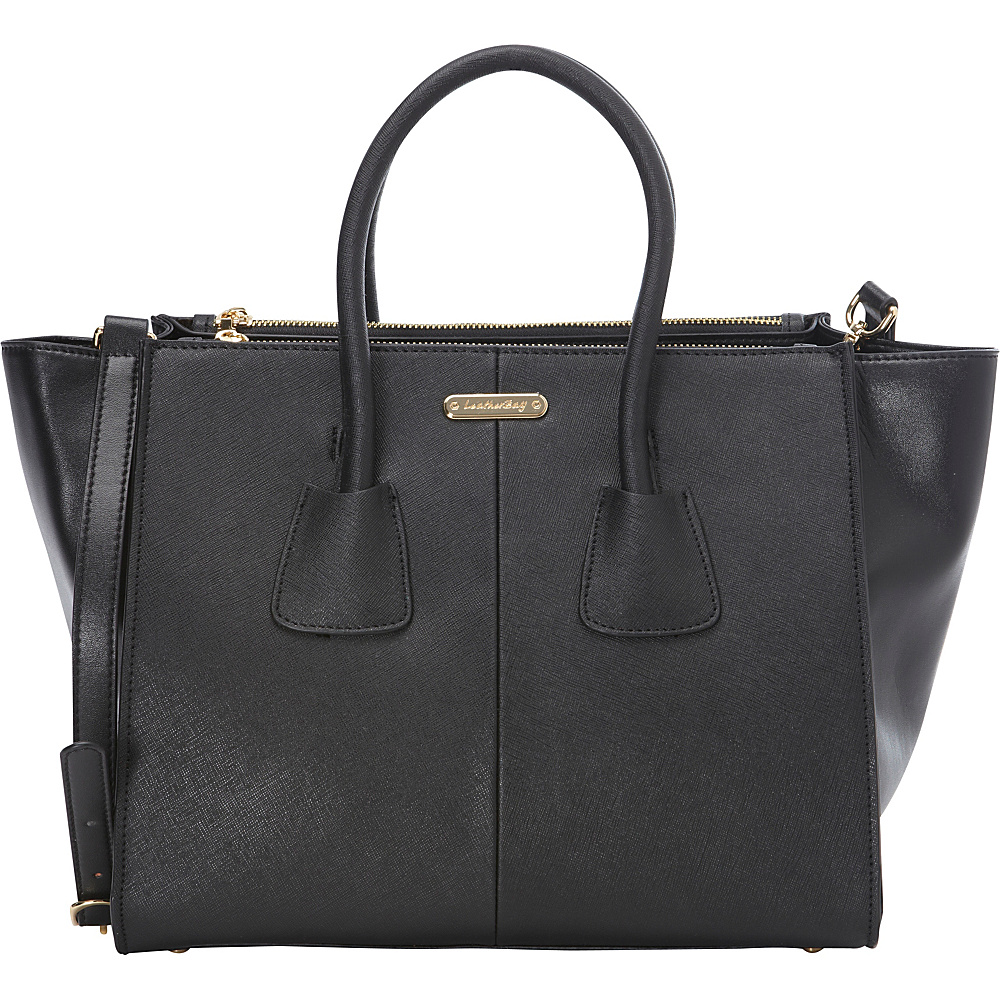 Leatherbay Trapani Small Tote Black - Leatherbay Leather Handbags