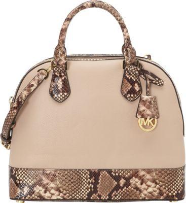 MICHAEL Michael Kors Smythe Large Dome Satchel Blush - MICHAEL Michael Kors Designer Handbags